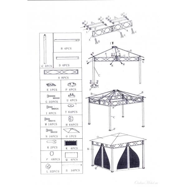 инструкция по сборке садового павильона - фото 4